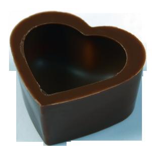 Herzschalen 29x16 mm Dunkel Felcor