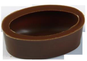 Oval Schalen 39/23 mm Milch Ambra