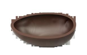 Halbeischalen glatt 10 cm Dunkel Felcor