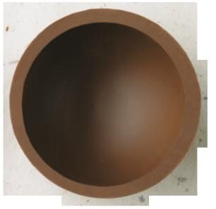 Halbkugel 61 mm Milch Ambra