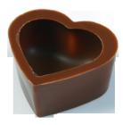 Herzschalen 29x16 mm Milch Ambra