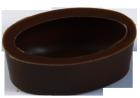 Oval Schalen 39x23 mm Dunkel Felcor
