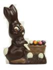 Hase mit Schubkarre gemalt 250g Dunkel